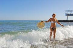 Repentinamente onda del mar Foto de archivo libre de regalías