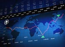 Repercussão da economia Fotos de Stock