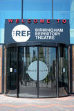 The Repertory Theatre entrance, Birmingham. Stock Images
