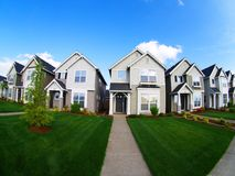 Repetetive Family Homes. A modern subdivision Royalty Free Stock Image