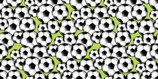Repetição aleatória do teste padrão das bolas de futebol Imagem de Stock