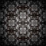 Repetição floral preta Imagem de Stock Royalty Free