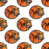 Repetição sem emenda da bola do basquetebol dos desenhos animados Imagens de Stock