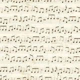 Repetición de notas musicales ilustración del vector