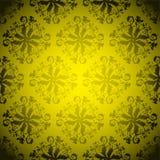 Repetición de oro del papel pintado Fotografía de archivo