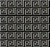 Repetición del laberinto como el tubo del metal del diseño Foto de archivo libre de regalías