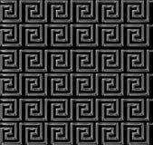 Repetición del laberinto como la plata estridente del diseño Fotos de archivo