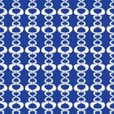 Repetición inconsútil abstracta de las formas blancas en un fondo azul Ideal rayado geométrico moderno del fondo del diseño del v ilustración del vector