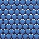 Repetición inconsútil abstracta de las formas del círculo en azul y blanco Ideal geom?trico moderno del fondo del dise?o del vect stock de ilustración