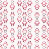 Repetición inconsútil abstracta del rosa y de formas grises en un fondo pálido Fondo rayado geométrico moderno del diseño del vec ilustración del vector