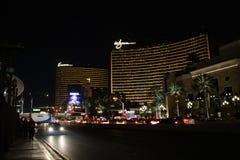 Repetición y Wynn, hoteles en la tira de Las Vegas imagen de archivo