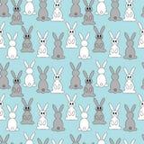 Repeticiones del conejo de la historieta Fotos de archivo
