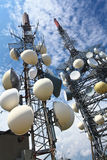 Repetidor de la antena de la TV Fotografía de archivo