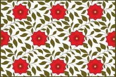 Repetindo o fundo com flores - flor vermelha Foto de Stock