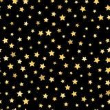 Repetindo o fundo das estrelas Teste padrão sem emenda Fotografia de Stock Royalty Free