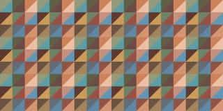 Repetindo o fundo do papel de parede no triângulo e as listras ou as fileiras do quadrado ilustração stock