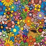 Repetindo o fundo floral ilustração stock
