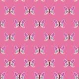 Repetindo o teste padrão com as borboletas, sem emenda Imagens de Stock