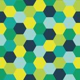 Repetindo o teste padrão do fundo colorido abstrato do vetor do hexágono Foto de Stock