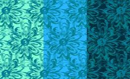 Repetindo o teste padrão floral do fundo Fotografia de Stock Royalty Free
