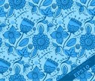Repetindo o teste padrão floral Luz - azul e azul Foto de Stock