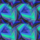 Repetindo o teste padrão triangular de cores frias ilustração royalty free
