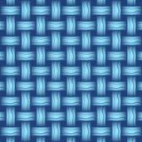 Repetindo o weave de vime denomine o azul do fundo, formato Imagem de Stock