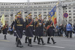 Repetição para a parada romena do dia nacional Imagem de Stock