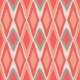Repetição popular do teste padrão sem emenda étnico tribal abstrato de Ikat da arte Fotografia de Stock Royalty Free
