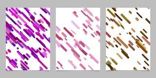 Repetir o molde diagonal arredondado aleatório do fundo da página do teste padrão da listra ajustou-se - vector projetos gráficos ilustração stock
