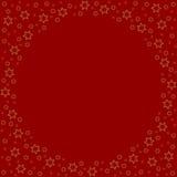 Repetir stars o teste padrão da silhueta no fundo vermelho ilustração do vetor