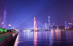 Repetitie van de Aziatische OpeningsCeremonie van het Spel Guangzhou stock afbeeldingen