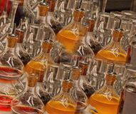 Repetition of Colorful Glassware Stock Images