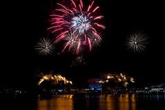 2016-07-02 repetition för fyrverkeri Singapore för nationell dag Fotografering för Bildbyråer