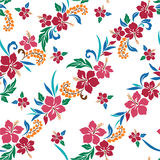 Repetition of Hibiscus. I drew Hibiscus for a design Stock Photos
