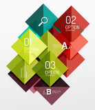 Repetition of overlapping color squares. Geometric modern background Royalty Free Stock Image