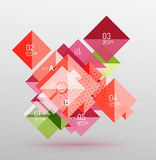 Repetition of overlapping color squares. Geometric modern background Stock Image