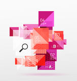 Repetition of overlapping color squares. Geometric modern background Royalty Free Stock Images