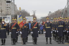 Repetition for Romanian National Day Parade Royalty Free Stock Photo