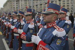 Repetition for Romanian National Day Parade Stock Photo