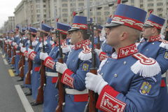 Repetition for Romanian National Day Parade Royalty Free Stock Photography