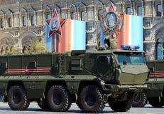 Repetitionberöm av den 72. årsdagen av Victory Day WWII Min-resistent bakhåll skyddade MRAP-pansarbilar T Arkivbild