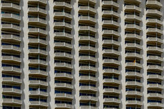 Repetitive balconies Stock Images