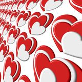 Repetitive Bubble Pattern Heart Layer Stock Photo