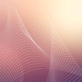 Repetitive geometric vector curvy waves pattern texture on blurred background Royalty Free Stock Photo