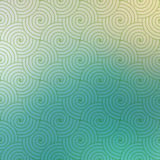 Repetitive geometric vector curvy waves pattern texture on blurred background Royalty Free Stock Photography