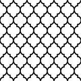 Moroccan tiles design, seamless black pattern, geometric background. Repetitive monochrome wallpaper background inspired by ceramic tiles from Morocco, mosaic Stock Photos