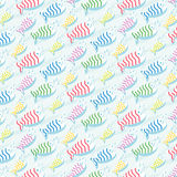 Repetitive pattern background with fish Stock Images