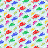 Repetitive pattern background with fish Royalty Free Stock Photo