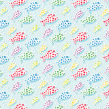 Repetitive pattern background with fish Stock Photography